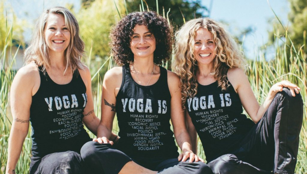 Suzanne Sterling, Hala Khouri, Seane Corn of Yoga Purpose & Action 2.0 Off the Mat leadership training at Yoga Tree Telegraph